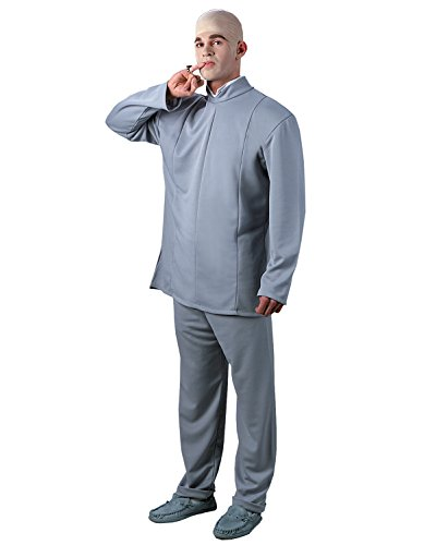 Fat Bastard Costumes (Dr Evil 1960 Costume Deluxe Austin Powers Movie Character Costume Halloween Sizes: One Size)