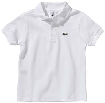 Lacoste - Camisa de manga corta para niño, color blanco, talla 18 meses (86 cm)