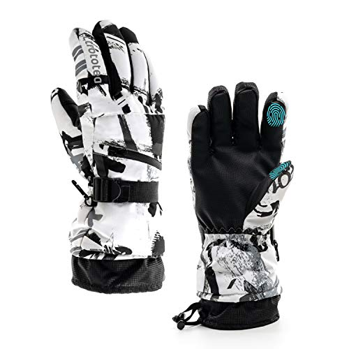 Ski Gloves, Snow Winter Gloves Warm Touchscreen Gloves Waterproof Outdoor Motorcycle Gloves (Medium) (Best Ski Gloves Under 50)