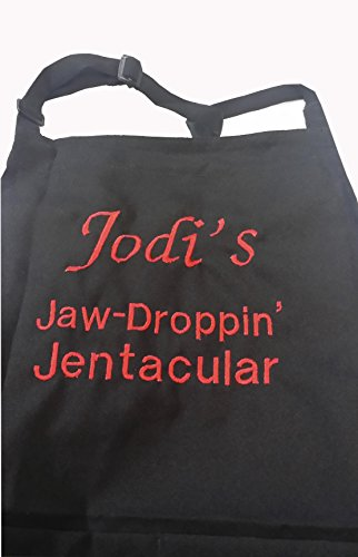 CHEFSKIN Personalized Custom Embroidery Name Apron Choose Size Color Font, Beautiful Makes a Great Gift! (Two LINE + Embroidery)