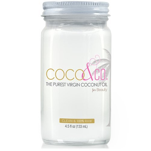 Pure Coconut Oil for Hair & Skin By COCO & CO. Clean, 100% RAW, Travel Size 4.5oz