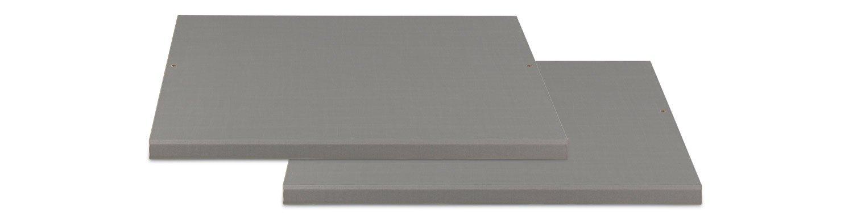 Silber,Grau Dekor Einlegeboden schmal ZESA 1