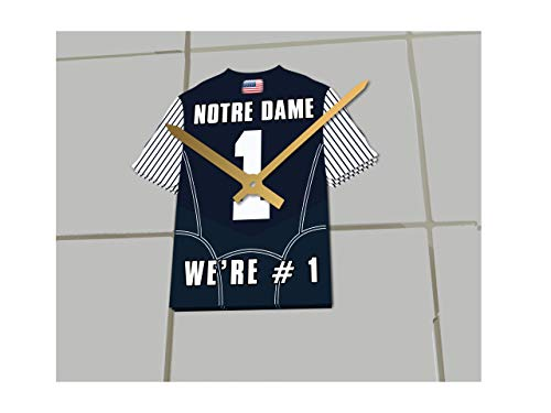 3d65f893d43 FanPlastic College Football USA - We're Number ONE American Football Shirt  Clocks - Support Your Team !!! (Notre Dame Fighting Irish)