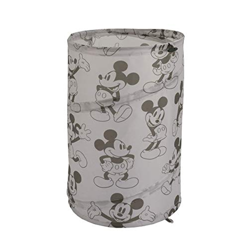 Round Mickey Mouse - Disney Mickey Mouse Round Pop-Up Hamper, Grey/Black