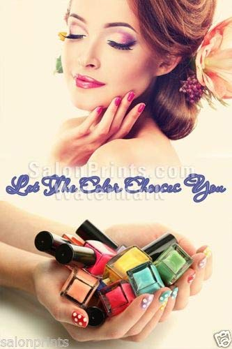Global Printing Services Nail Salon Poster - Colorful Gel Na