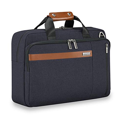 (Briggs & Riley Kinzie Street Convertible Brief Briefcase, Navy, One Size)