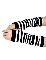 Changeshopping Winter Wrist Arm Hand Warmer Knitted Long Fingerless Gloves Mitten (White)