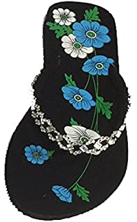 13f73e995 L.A. Beauty Women s Rhinestone Sandals-Flats - Flip Flops - Shoes