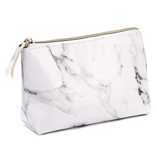 ec7220b628a8 Marble Makeup Bags,LKE Cosmetic Display Cases Waterproof Marble Travel  Cases Portable Makeup Bags Makeup Organizers(8.66x6.3x2.36Inches) (Marble  ...
