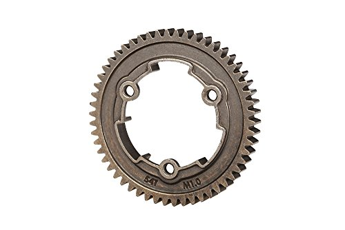 - Traxxas 6449X 54-T Steel 1.0 Metric Pitch 20° Pressure Angle Spur Gear