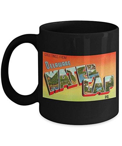- Greetings from Delaware Water Gap Pennsylvania, Vintage Large Letter Postcard Design: Ceramic Coffee Mug