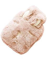 Oyfel Bolsa de Agua Caliente Cama para Navidad Otoño Invierno Regalo Funda Peluche Animal Conejo Pies Felpa 26cm*17cm