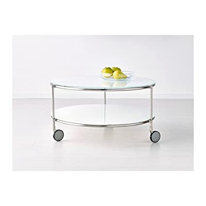 IKEA STRIND Coffee Table White Nickelplated Cm Amazonco - Strind coffee table