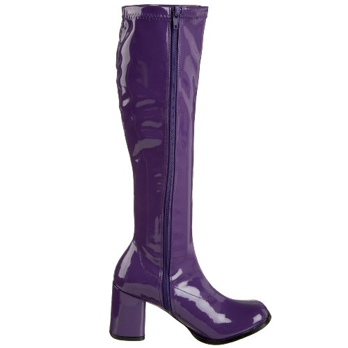 gogo 11 Purple boots Heels style Club Dress Fancy 1970's disco BgnaE7U