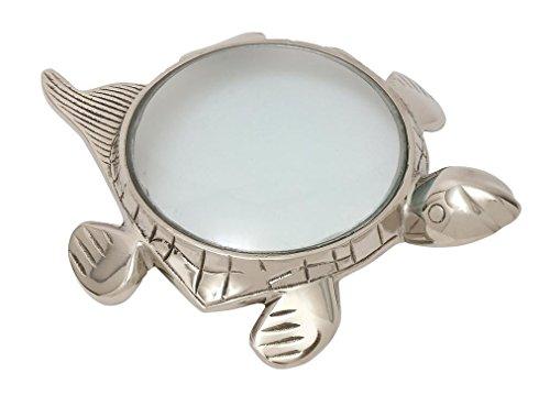 Deco 79 19089 Adorable Turtle Magnifier, 11