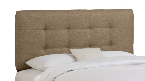 Skyline Furniture Logan Square Tufted King Headboard Upholstered in Groupie, -