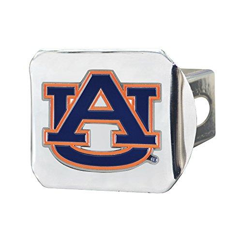 CC Sports Decor NCAA Auburn University Tigers Color Class III Hitch - Chrome Hitch Cover Auto Accessory ()