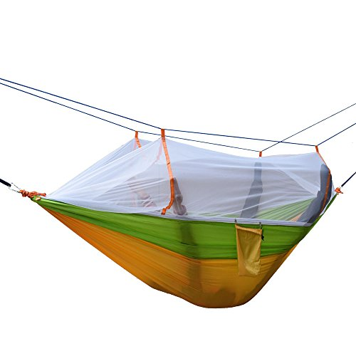Yosoo camping tree hammocks with mosquito net lightweight,parachute double hammock