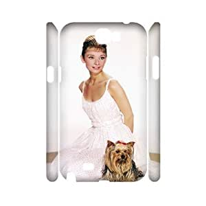 C-EUR Audrey Hepburn Customized Hard 3D Case For Samsung Galaxy Note 2 N7100