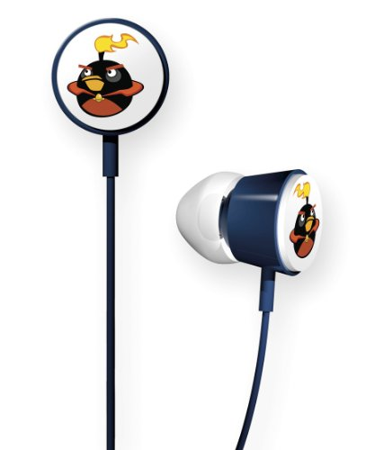 Gear4 HAB009G Angry Birds Space In-Ear Stereo Headphones - Fire Bomb Bird Tweeters