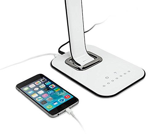 Turcom Led Desk Lamp Table Lamp Dimmable Usb Ports For