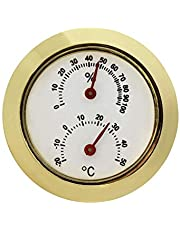 JVSISM Household Metal Thermometer Hygrometer for Room Temperature Humidity Meter Silver