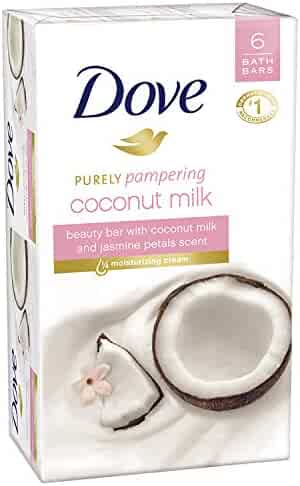 Dove Beauty Bar, Coconut Milk, 4 oz, 6 Bar