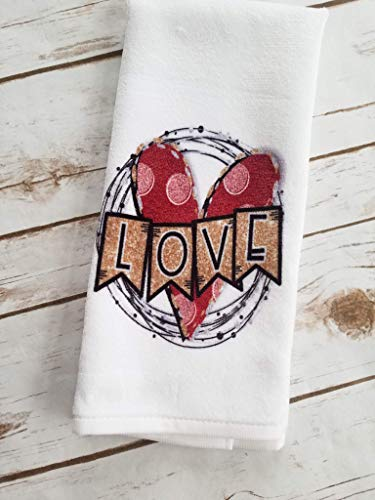 Valentine's Day Gift for Her Love Kitchen Bathroom Tea Towel