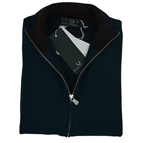 Fred Perry Camiseta Jersey Sudadera Hombre Men Full Cremallera Jumper Verde Oscuro XXL: Amazon.es: Ropa y accesorios