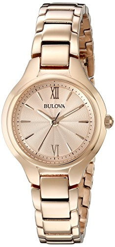 Bulova Women's 97L151 Analog Display Quartz Rose Gold Watch