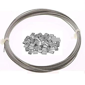 Amazon.com: ohaha Hoisting 7 x 7 1,2 mm de diámetro de acero ...