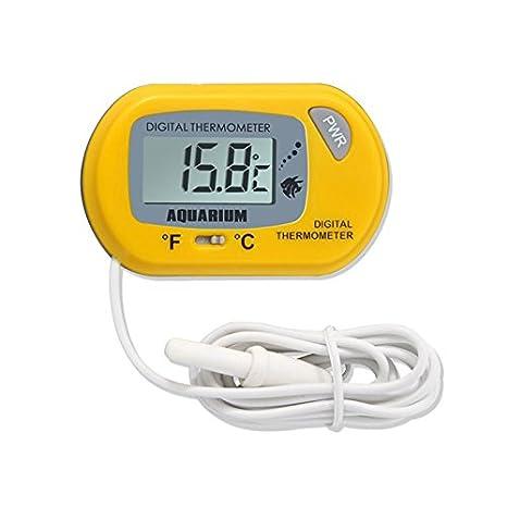 Alftek LCD - Termómetro digital para acuario con sonda con ventosa para acuario: Amazon.es: Productos para mascotas