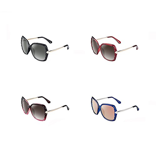 dames rond lunettes cadre de soleil soleil de Lunettes polarizer visage grand Black fSEC1aqRw