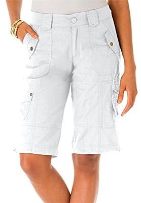 Roamans Women's Plus Size Bermuda Shorts