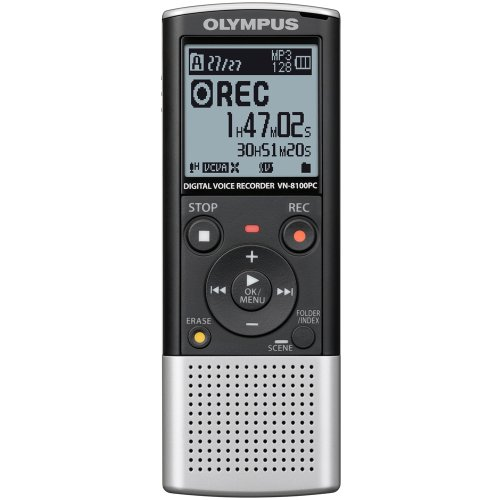 Olympus VN-8100PC Digital Voice Recorder 142600 (Silver and Black) by Olympus