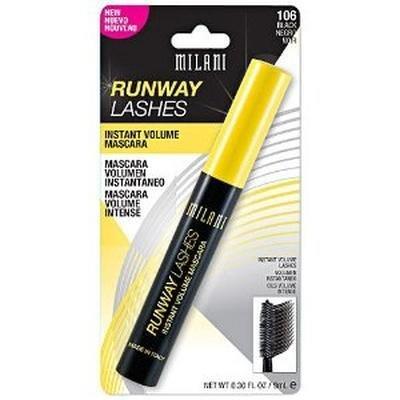 Milani Runway Lashes Volumizing & Lengthening Mascara - Black (Pack of 3)