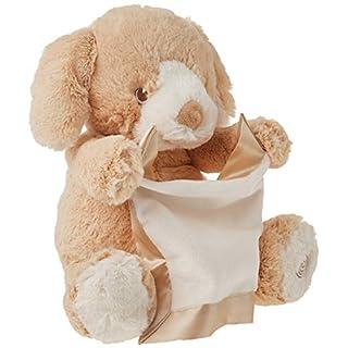 "Peek-A-Boo Puppy Animated Sound Plush Toy Tan 10"""