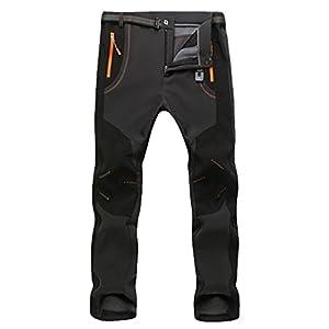 YiLianDa Pantaloni Funzionali Softshell Invernali da Uomo Slim Fit Impermeabili e Traspiranti per Trekking e Sport all'aperto 1 spesavip