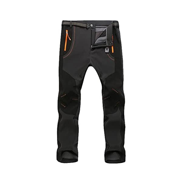 YiLianDa Pantaloni Funzionali Softshell Invernali da Uomo Slim Fit Impermeabili e Traspiranti per Trekking e Sport all… 1 spesavip