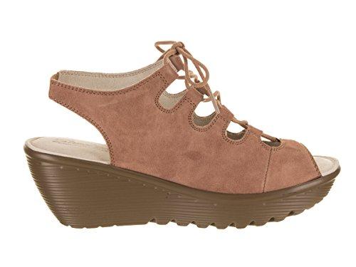 fdad8b46340a Skechers Women s Parallel Peep Toe Ghillie Slingback Wedge Sandal