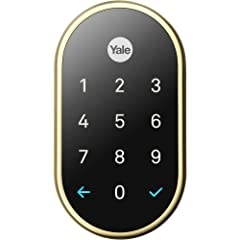Most Locks Are Made For Keys. This Lock Is Made For People. The Yale X Lock features a key free deadbolt that is secure and tamper-proof. It locks with a touch anywhere on the keypad and the included app allows you to lock it automatically wh...