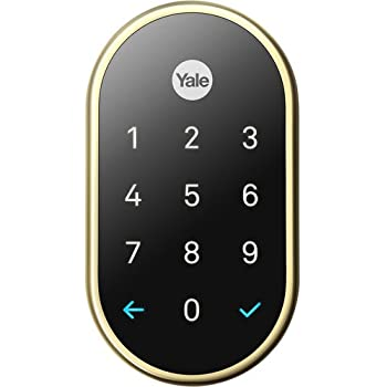 Yale Secure Lock, Tamper-proof, key-free deadbolt that connects to Nest App, Lock and Unlock Your Door from Anywhere (Nickel)
