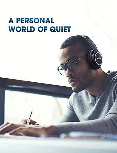 Mpow [Update] Active Noise Cancelling Headphones, 50 Hours Playtime with Hi-Fi Deep Bass, ANC Over Ear Bluetooth Headphones with Mic, Foldable Wireless Headset for Travel Work TV Cell Phone/PC by Mpow (Image #3)