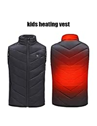 Kids Heated Vest, USB Charging Light Weight Insulated Heated Vest Body Warm Wrap Jacket Cloth Washable Adjustable for Outdoor