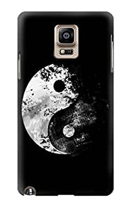 S1372 Moon Yin-Yang Case Cover For Samsung Galaxy Note 4