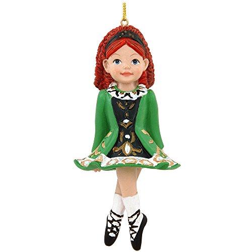 Green Dress Christmas Ornament (Irish Dancer Ornament)