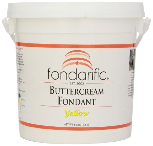 (Fondarific Buttercream Yellow Fondant, 5-Pounds )