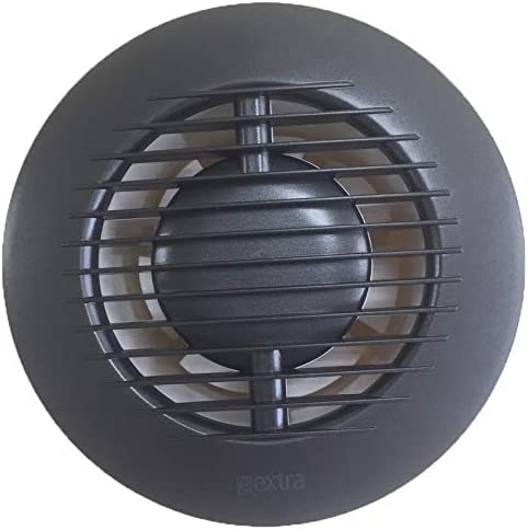 Quiet Operation Colour Standard Extractor Fan with Ball Bearing Diameter 125 mm for Bathroom and Kitchen with Low Energy Consumption Anthracite
