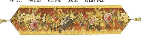 Autumn Bouquet European Table Runner by Charlotte Home Furnishings Inc.