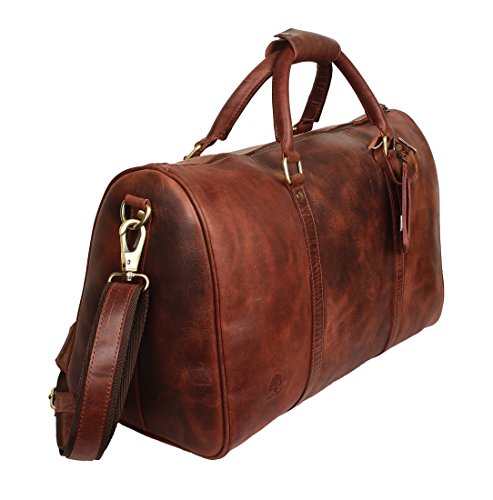 Handmade Leather Duffel Bags For Men - Airplane Underseat Carry On Luggage